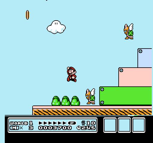super mario bros 3 nes screenshot