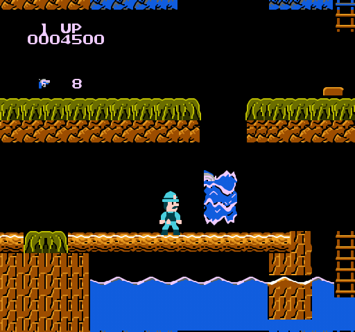 Super Pitfall (NES) Retro Review – 0% Imagination