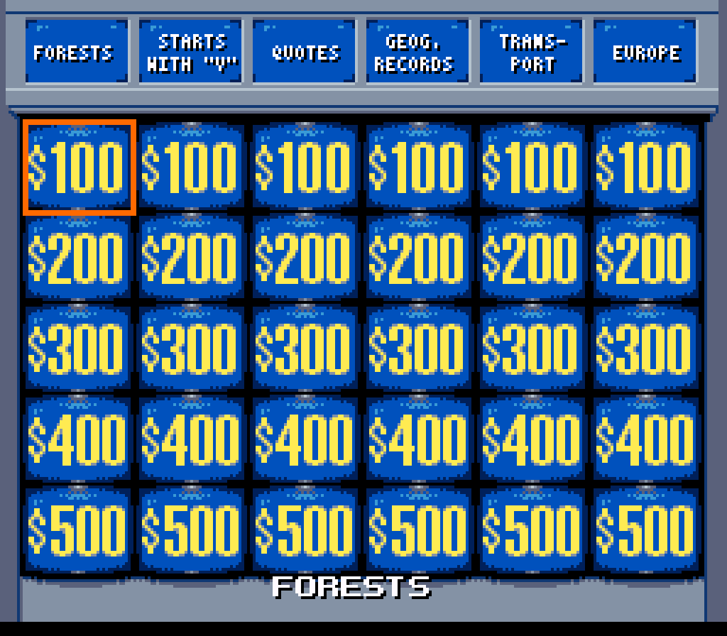 Jeopardy deluxe edition download game gamefabrique deluxe edition snes screenshot jeopardy deluxe edition snes screenshot solutioingenieria Images