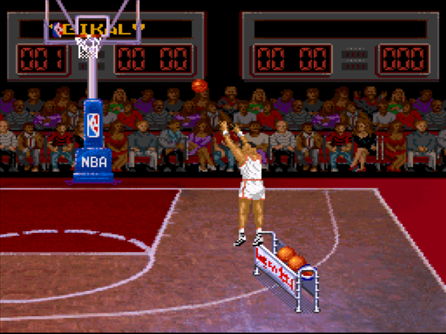 7c176d567d7 ... NBA All-Star Challenge SNES Screenshot