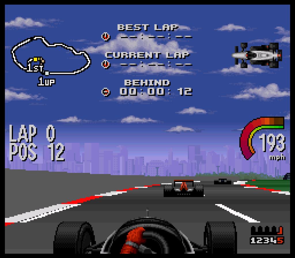 Newman Hass Indy Car Racing Sega Genesis