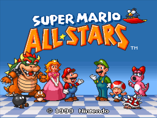 5e093bafa45 Super Mario All-Stars SNES Screenshot ...