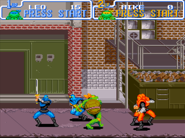 Teenage Mutant Ninja Turtles Turtles in Time snes