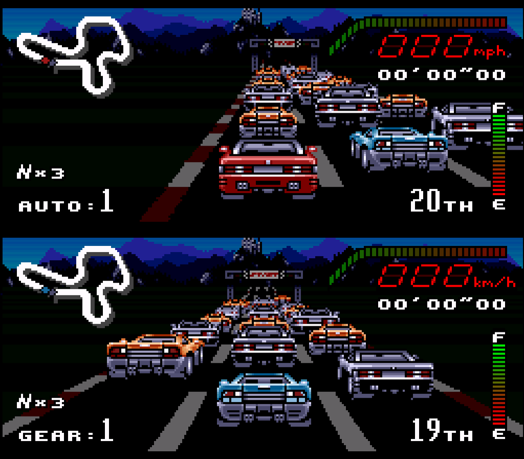 snes driving games